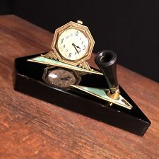 Vtg Antique Pen Holder Elgin Watch Heavy Base PRIORITY MAIL