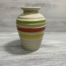 10� Decorative Vase Green Red Yellow Ring Vase