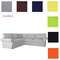 Custom Made Cover Fits IKEA EKTORP Corner Sofa 2+2, 4 Seat Sectional Sofa Cover
