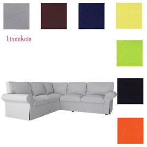 Custom Made Cover Fits IKEA EKTORP Corner Sofa 2+2, 4 Seat Sectional Sofa Cover