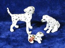 Dalmatian Family Bone China Japan Vintage Mini Figurines Set of Three