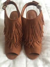 Women's NINE WEST Brown shoes boots heels Size 6 1/2M to fit UK 4.5