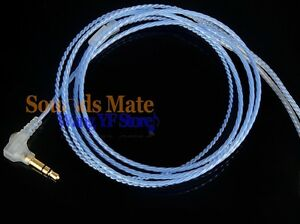 Silver Plated 6N OFC Hifi Cable For Shure SE 215 315 SE 425 535 SE846 Headphone
