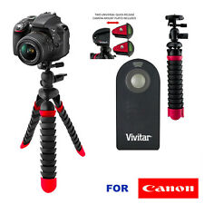 "WIRELESS REMOTE CONTROL + 12"" WONDER TRIPOD for Canon EOS Rebel T6s T6i T5i T3i"