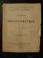 Notions de Trigonométrie - 1930