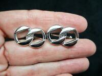 Vintage-SWANK Men's 1960's Chain Link Silver Tone Cuff Links