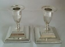Victorian sterling Silver Candlesticks. LONDON 1892. par Horace Woodward & Co