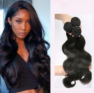 Body Wave Human Hair 3 Bundles/150G Natural color 18inches Extensions Weave Weft