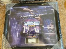 WWE WRESTLEMANIA 27 HAND SIGNED UNDERTAKER PLAQUE AUTOGRAPH