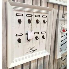Shabby Chic White Keys Wall Mounted Board Hooks Rack New Large