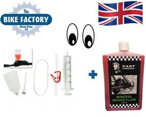 Bicycle Repair Hydraulic Disc Brake Oil Bleed Tool kit Bike MTB Mineral UK 250ml