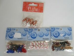 BUTTONS...SPORTS...4 DESIGNS TO CHOOSE FROM