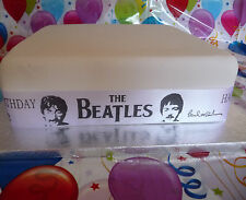 Personalised Ribbon The BEATLES theme add to cake, gifts, memorabilia decoration