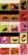 Singapore stamps -2008-2012 Zodiac series 5 complete sets animals