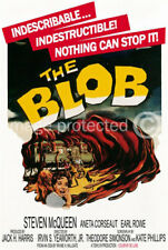 Vintage Science Fiction Horror Movie Poster The Blob