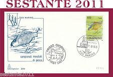 SAN MARINO, FDC CAPITOLIUM 209 , 11/9/1985  CAMPIONATI MONDIALI DI PESCA  (36)
