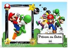 Plaque de porte en bois Mario  N° 42  avec prénom ou texte de votre choix