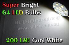 2x G4 Bi-pin 12-SMD 12v 24v LED Bulb Cool White Cabinet Wall Staircase Light
