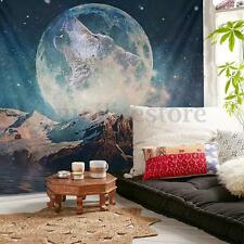 Wolf Moon Mandala Wall Hanging Tapestry Rug Bedspread Gypsy Throw Blanket Decor