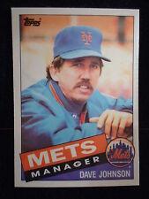 Dave Johnson 1985 Topps Tiffany Card