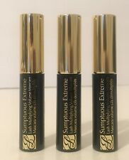 3 x Estee Lauder Sumptuous Extreme 01 Extreme Black Mascara Mini .1oz/2.8ml Each