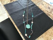 CHICO'S TURQUOISE DOUBLE STRAND NECKLACE NWOT