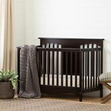 Savannah Baby Crib 4 Heights with Toddler Rail-Espresso-South Shore