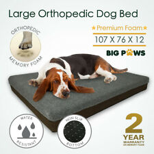 Memory Foam Dog Bed 12CM Thick Orthopedic Large Dog Pet Beds Water Resistant