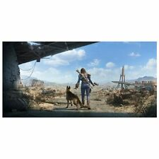 "Fallout 4 Key Art Wall Wrap Poster Dogmeat Female Sole Survivor 26"" x 13"""