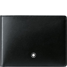 MONTBLANC MEISTERSTUCK 6CC BLACK LEATHER this item is a factory B-Stock item