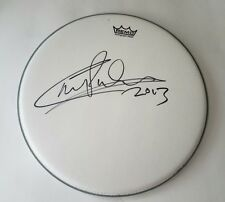 carl palmer autographed drumhead
