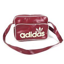 De Colección Adidas Rojo Trasera de Cuero Messenger