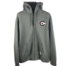 Hudsons Bay Mens Size Large Official Canada Olympics Grey Zip Up Hoodie