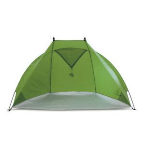 Kleine Reisestrandmuschel mit Fenster & UV-Schutz 80 – outdoorer Helios Air grün