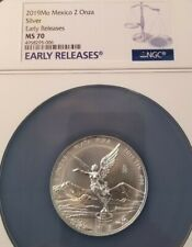 2019 MEXICO SILVER 2 ONZA LIBERTAD NGC MS 70 PERFECTION EARLY RELEASES !!!