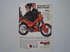 advertising Pubblicità 1989 MALAGUTI FIFTY TOP 50