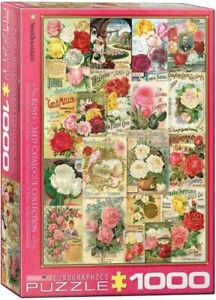 Eurographics Puzzle 1000 Piece Jigsaw - Roses Seed Catalogue  EG60000810