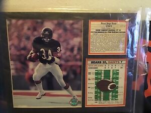 WALTER PAYTON 8X10 Photo 1984+Extras Chicago Bears NFL Football Rushing Record