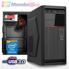 PC Computer Desktop Intel G4500 Dual Core - Ram 16 GB - SSD 240 GB - HD 1 TB