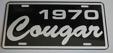 METAL LICENSE PLATE 1970 70 COUGAR XR7 302 351 427 428 MERCURY MUSCLE CAR