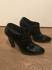 Prada Black Patent Shoe boots Ankle Boots. Size 6 UK 39