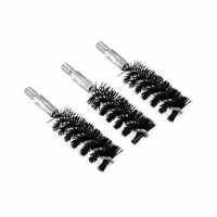 3Pcs Nylon Bristle Bore Brush .40 Caliber 8x32 Thread for Gun Cleaning Rod