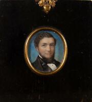 Late 19th Century Watercolour - Striking Victorian Gentleman In Miniature
