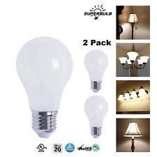 A19 LED 800 Lumen Light Bulb 2700K Warm White 6.5W - 60W Equivalent E26 (2-Pack)