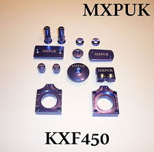 KXF450 2012 BLING KIT MXPUK BLUE ANODIZED ALLOY PARTS 2011 KXF450 KX450F (632)