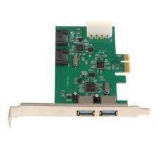 PCI-E A 2 Porte USB 3.0 + 2 Porte SATA 3.0 PCI Express Expansion Card Per