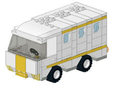 LEGO White and Yellow Custom Animal Control Van Instructions Only