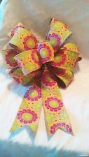 SPRING EASTER PINK LIME WREATH SWAG GIFT BASKET 5 YARDS RIBBON UNCUT FOR BOWS ++