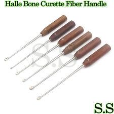 Set of 6 Pcs Halle Bone Curette Fiber Handle Orthopedic Surgical Instruments