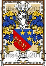 Family coat of arms  Bookplate A4 260gms Photographic paper Free Postage